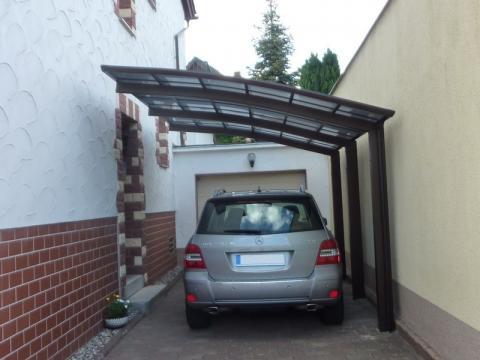 XIMAX Portoforte íves kocsibeálló alumínium szerkezettel és polikarbonát fedéssel 10