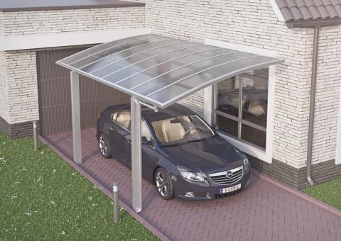 XIMAX Portoforte íves kocsibeálló alumínium szerkezettel és polikarbonát fedéssel 2