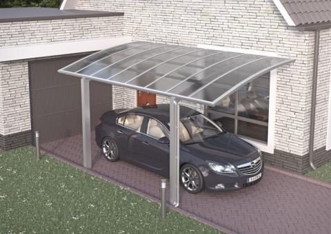XIMAX Portoforte íves kocsibeálló alumínium szerkezettel és polikarbonát fedéssel 3