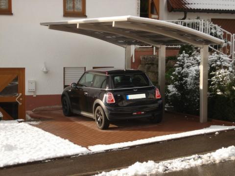 XIMAX Portoforte íves kocsibeálló alumínium szerkezettel és polikarbonát fedéssel 5