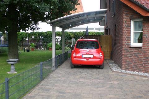 XIMAX Portoforte íves kocsibeálló alumínium szerkezettel és polikarbonát fedéssel 6