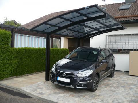 XIMAX Portoforte íves kocsibeálló alumínium szerkezettel és polikarbonát fedéssel 9